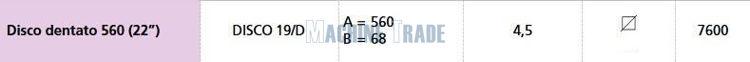 Slika Disk tanjurače FI – 560x4,5 / Q-30 / Naz. odgovara 7-DISCO/08D